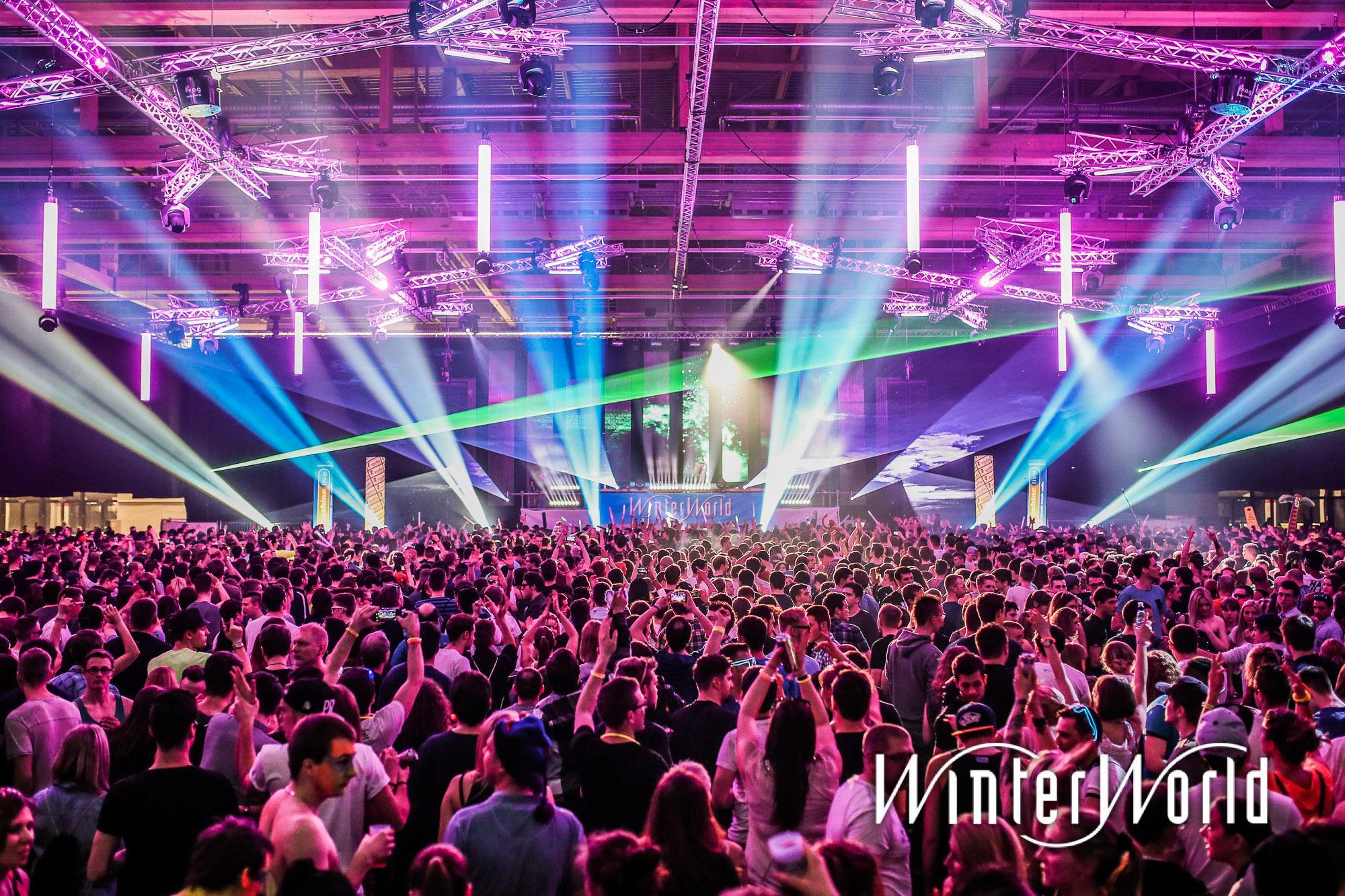 Lasershow bei WinterWorld